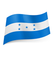 State flag of Honduras vector image