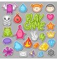 Game kawaii collection Cute gaming design vector image vector image