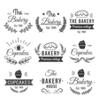Hand Drawn Cupcakes Label Set vector image