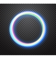 Round neon light trail special effect vector image