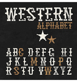 Western alphabet on the blackboard background vector