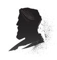 male silhouette vector image