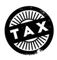 Tax stamp rubber grunge vector image