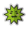 caries dental comic character vector image