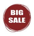 red doodle sale tag big sale banner vector image
