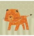 Cute Lion vector image vector image