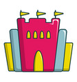 Princess castle icon cartoon style vector image
