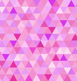 Seamless pattern pink triangle geometry mosaic vector image