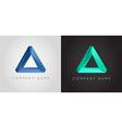 Trendy Crystal Triangulated Gem Logo Element vector image