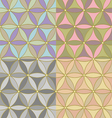 pattern of hexagons vector image vector image