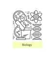 Modern thin line icons of biology vector image