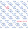 alzheimer disease pattern poster vector image
