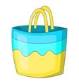 Beach bag icon cartoon style vector image