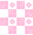 Chessboard Pink Heart Valentine Background vector image