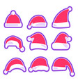 christmas hat isolated on white background vector image