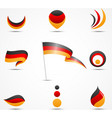 flags and icons of germany vector image