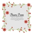 flowers beautiful frame decorative vector image