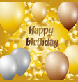 happy birthday - golden foil vector image