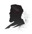 Male silhouette vector image