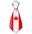necktie in national colours of Canada vector image