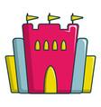 Princess castle icon cartoon style vector image