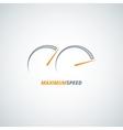 speedometer design background vector image