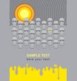 sunny vinyl vector image