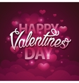 Happy valentines day script text on pink vector image vector image