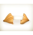 Fortune cookie banner vector image