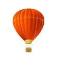 red air ballon isolated on white vector image vector image