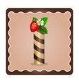 letter i candies chocolate vector image