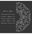 Black and white card design with ornate pattern vector image