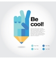 Pencil with cool gesture symbolizing ideas with vector image