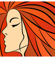 Abstract women with fiery hair vector image