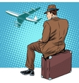 passenger the airport waiting for departure vector image
