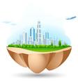 flying city island vector image