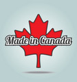 Made in Canada vector image