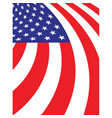 Abstract american fag background vector image