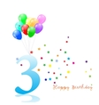 Anniversary third birthday signs collection vector image