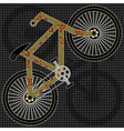 bicycle print design vector image