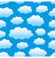 cloudy sky pattern vector image