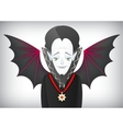 Count Dracula is a charming Halloween vampire vector image