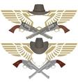 Cowboy pistols vector image