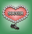 Love of soccer vector image