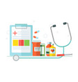 medical set of objects tablets medicines vector image