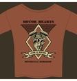 Motor Hearts Motorcycle Workshop vector image