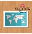 postcard summer vacation map vector image