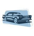 Retro car silhouette vector image