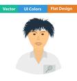Tennis man athlete head icon vector image