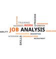 word cloud job analysis vector image